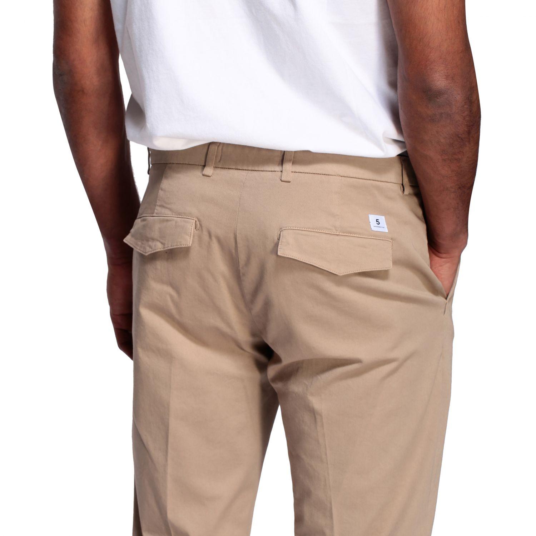 Department 5 slim trousers in garment dyed gabardine beige 5