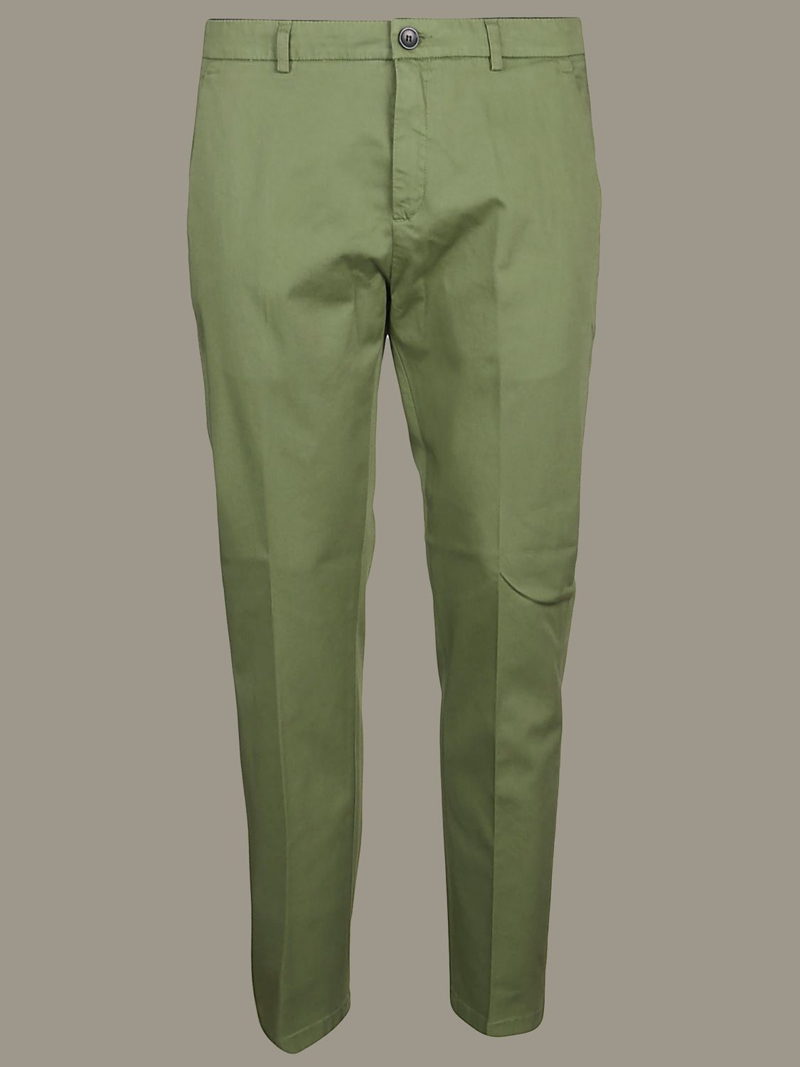 Hose Department 5: Department 5 Slim Hose aus Gabardine military 1