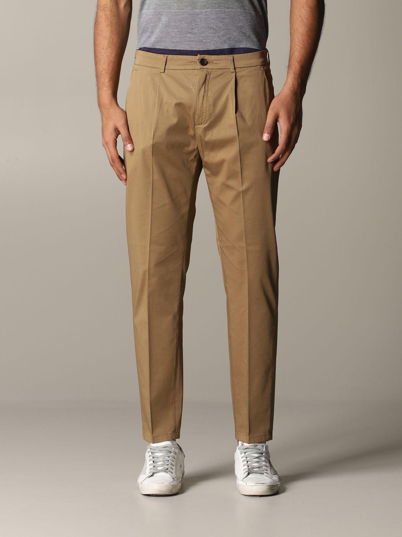 Pantalon Department 5 en satin stretch noisette 1