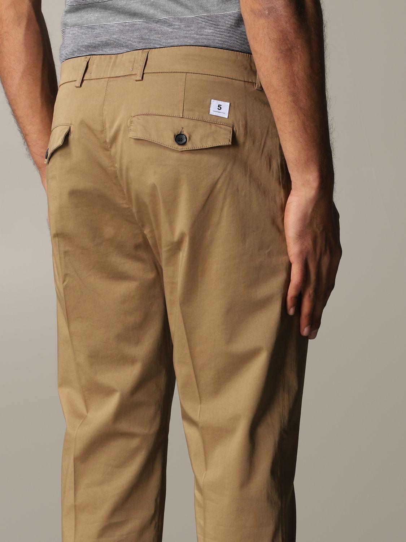 Pantalon Department 5 en satin stretch noisette 5