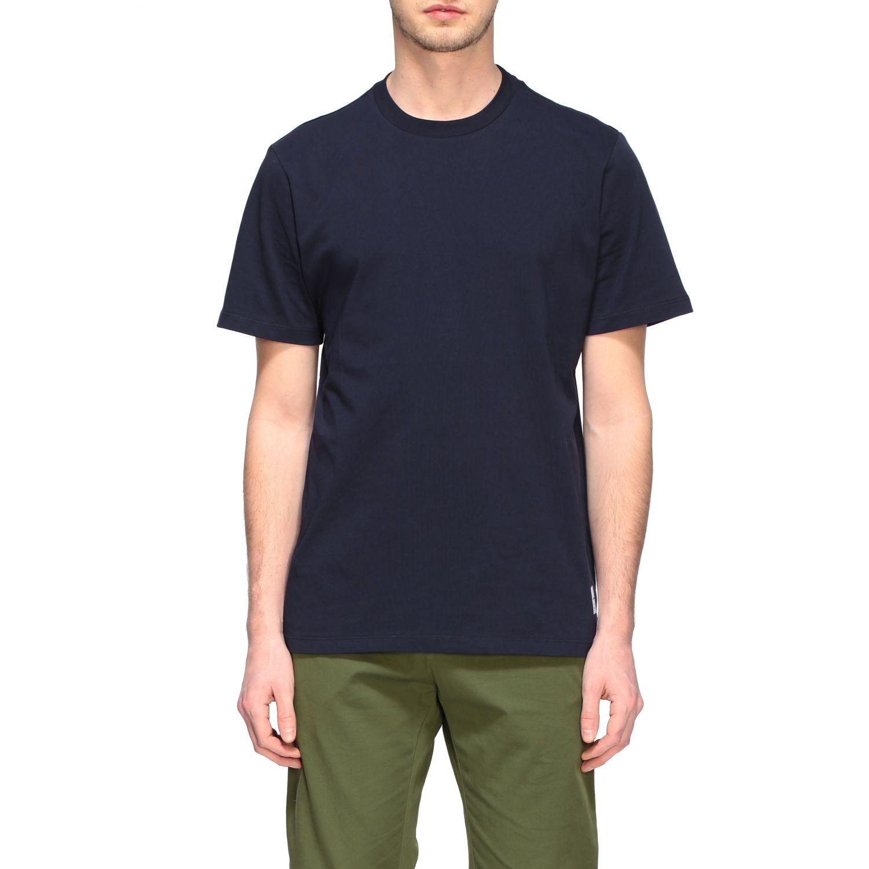 Department 5 crew-neck t-shirt blue 1