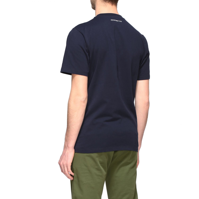 Department 5 crew-neck t-shirt blue 3