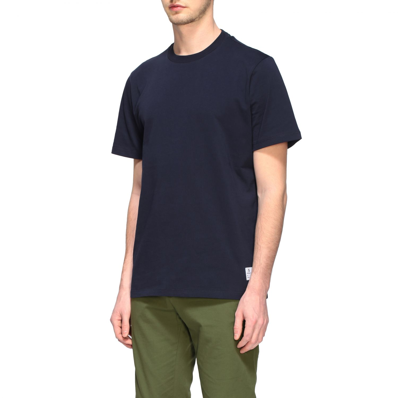 Department 5 crew-neck t-shirt blue 4