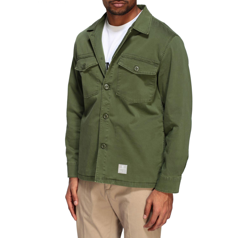 Veste Saharienne Department 5 en gabardine vert militaire 4