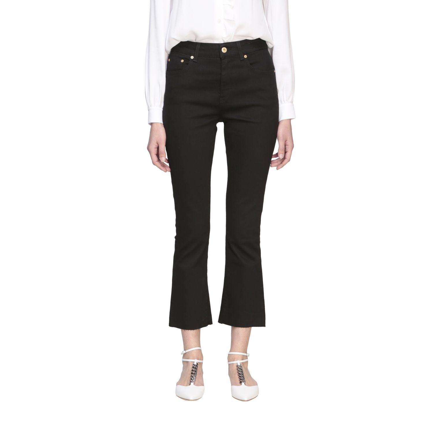 Department 5 Clare slim fit jeans with 5 pockets black 1
