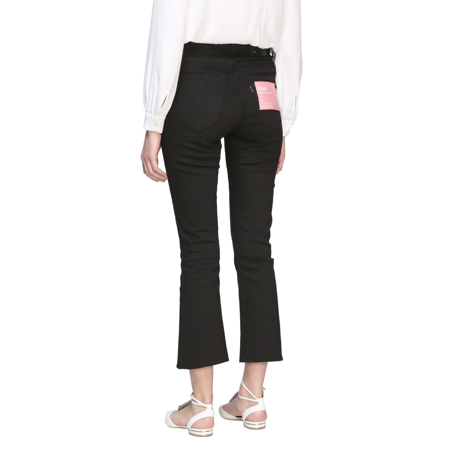Department 5 Clare slim fit jeans with 5 pockets black 3