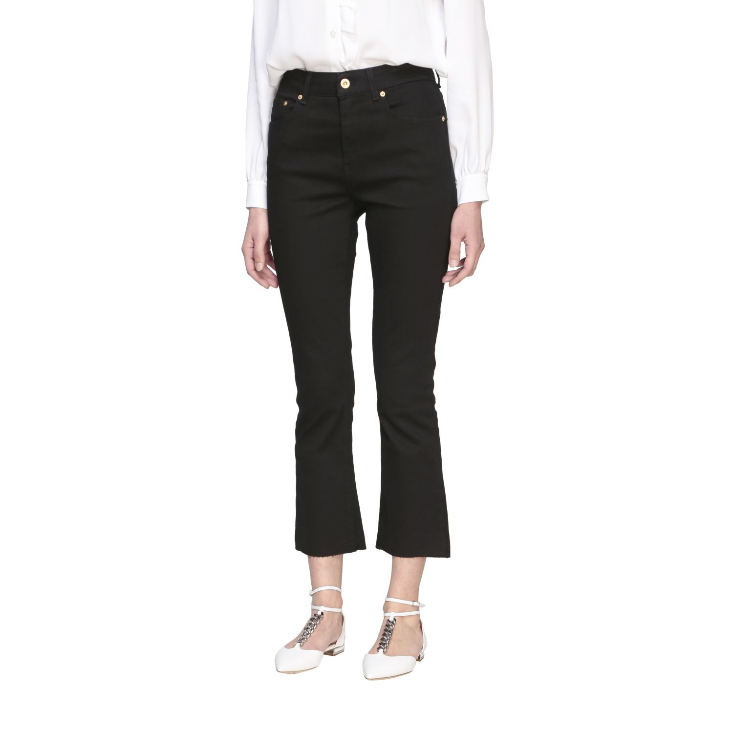 Department 5 Clare slim fit jeans with 5 pockets black 4