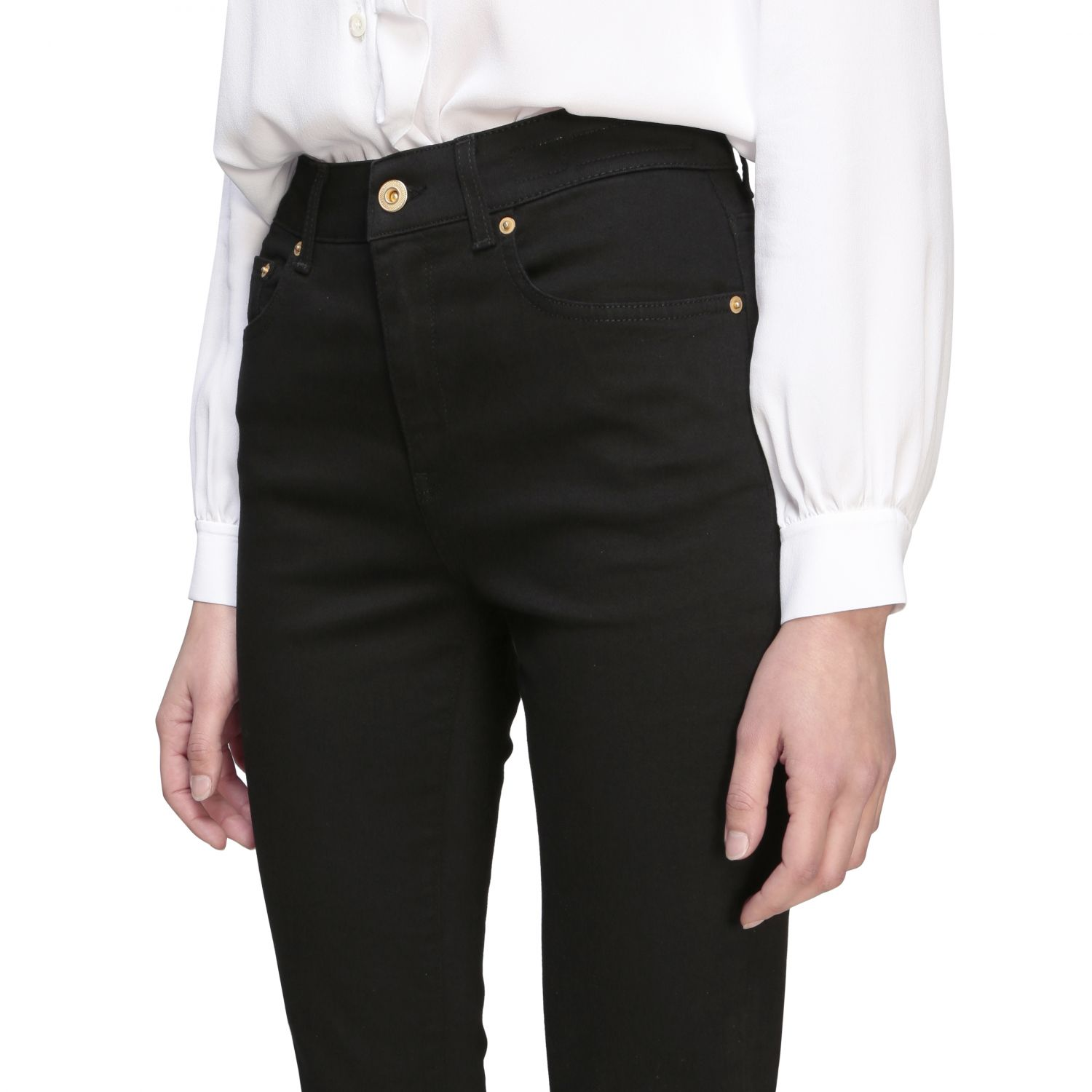 Department 5 Clare slim fit jeans with 5 pockets black 5