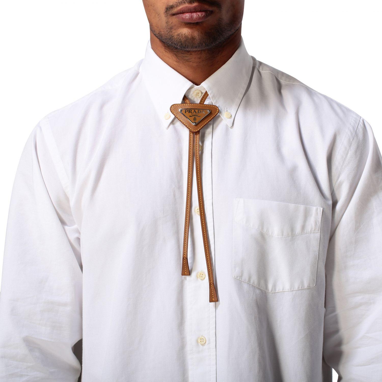 Галстук Мужское Prada кожаный 1