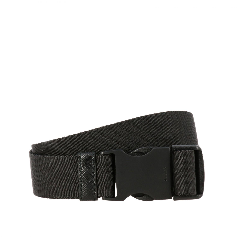 Cintura Prada con nastro e fibbia nero 1