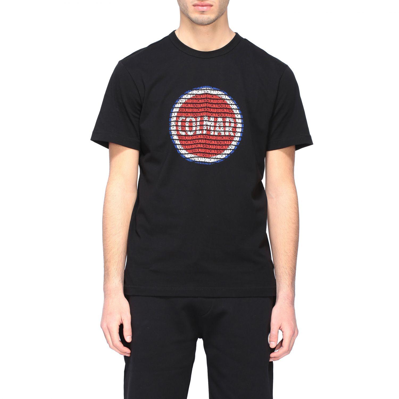 T-shirt Colmar a girocollo con stampa logo nero 1