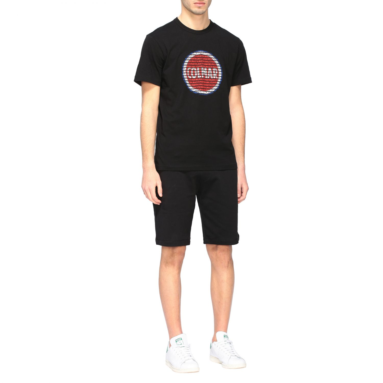 T-shirt Colmar a girocollo con stampa logo nero 2