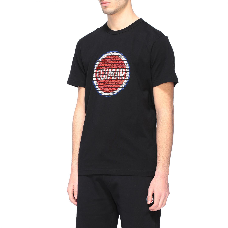 T-shirt Colmar a girocollo con stampa logo nero 4