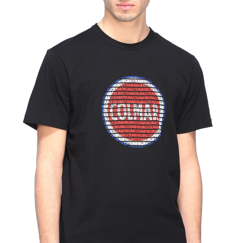 T-shirt Colmar a girocollo con stampa logo nero 5