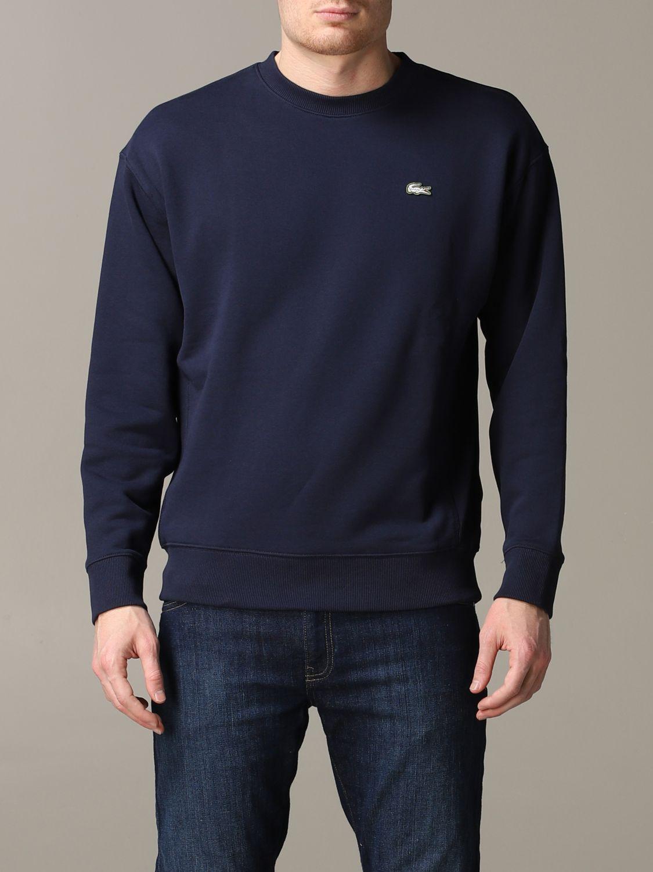 Sweatshirt men Lacoste L!ve blue 1