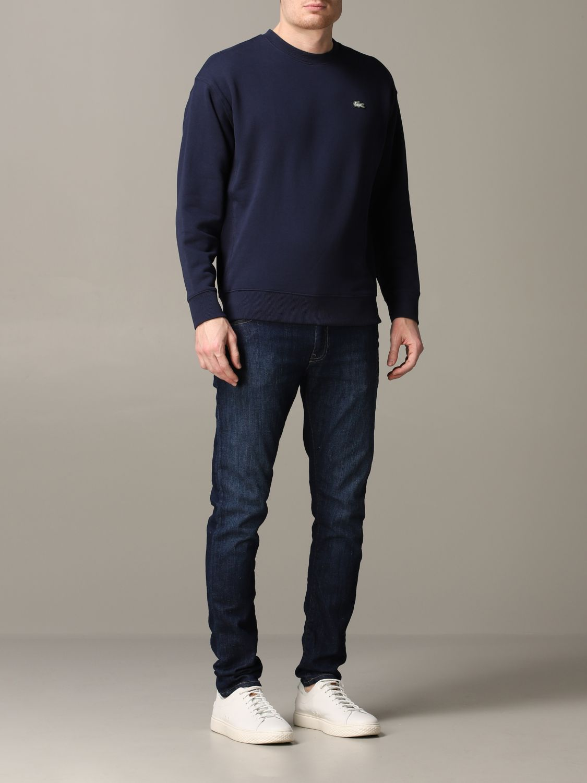 Sweatshirt men Lacoste L!ve blue 2