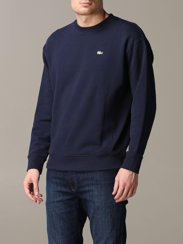Sweatshirt men Lacoste L!ve blue 4