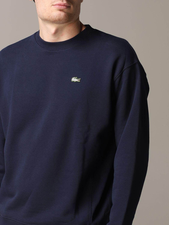 Sweatshirt men Lacoste L!ve blue 5