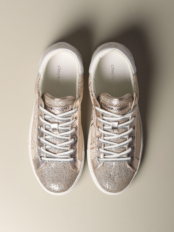 Sneakers Crime London: Shoes women Crime London pink 3