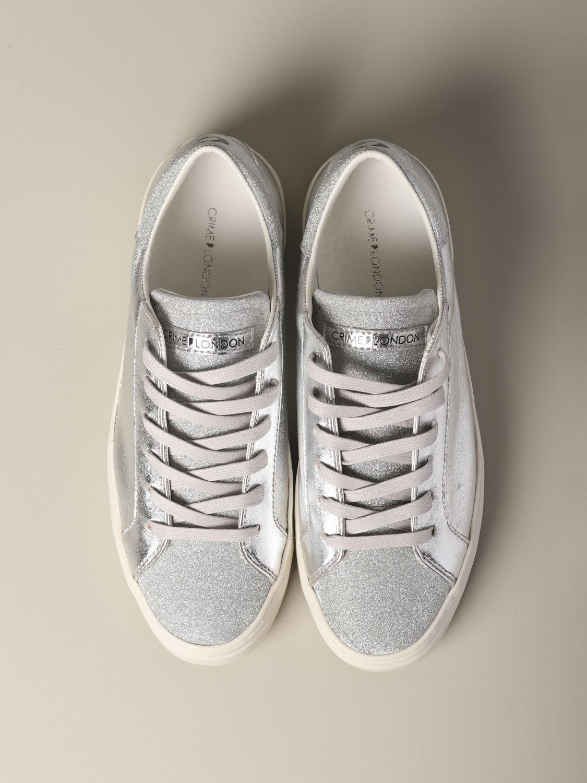Sneakers Crime London: Shoes women Crime London silver 3