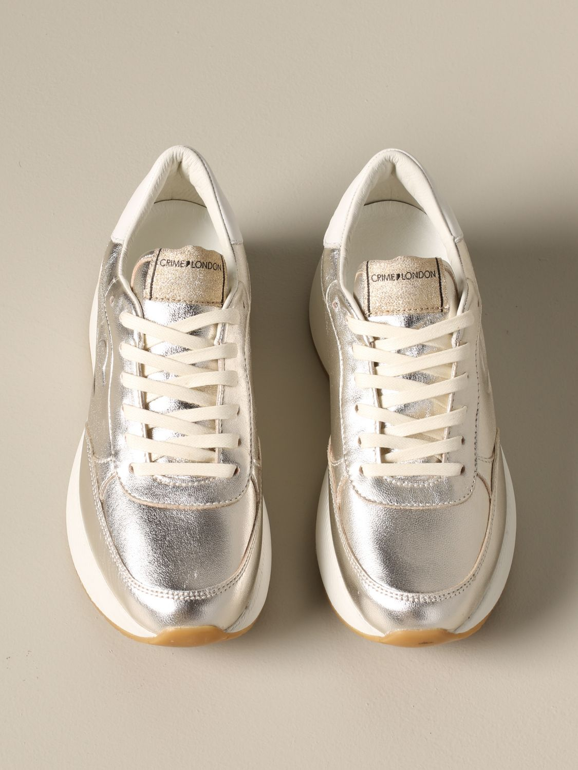 Sneakers Crime London: Shoes women Crime London gold 3