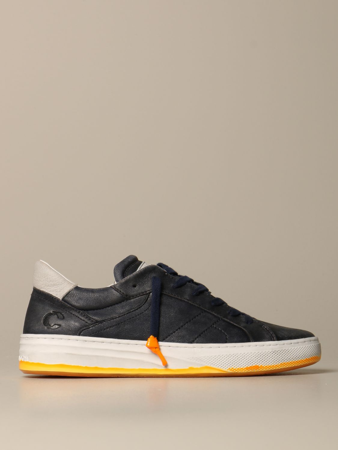 Sneakers Crime London: Force Crime London sneakers in vintage leather blue 1