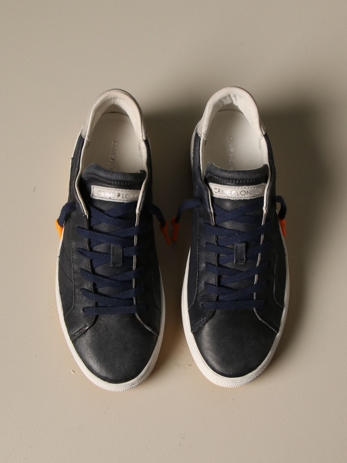 Sneakers Crime London: Force Crime London sneakers in vintage leather blue 3