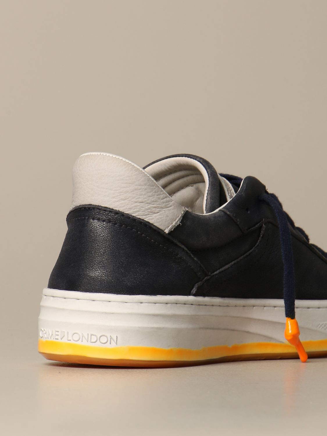 Sneakers Crime London: Force Crime London sneakers in vintage leather blue 5