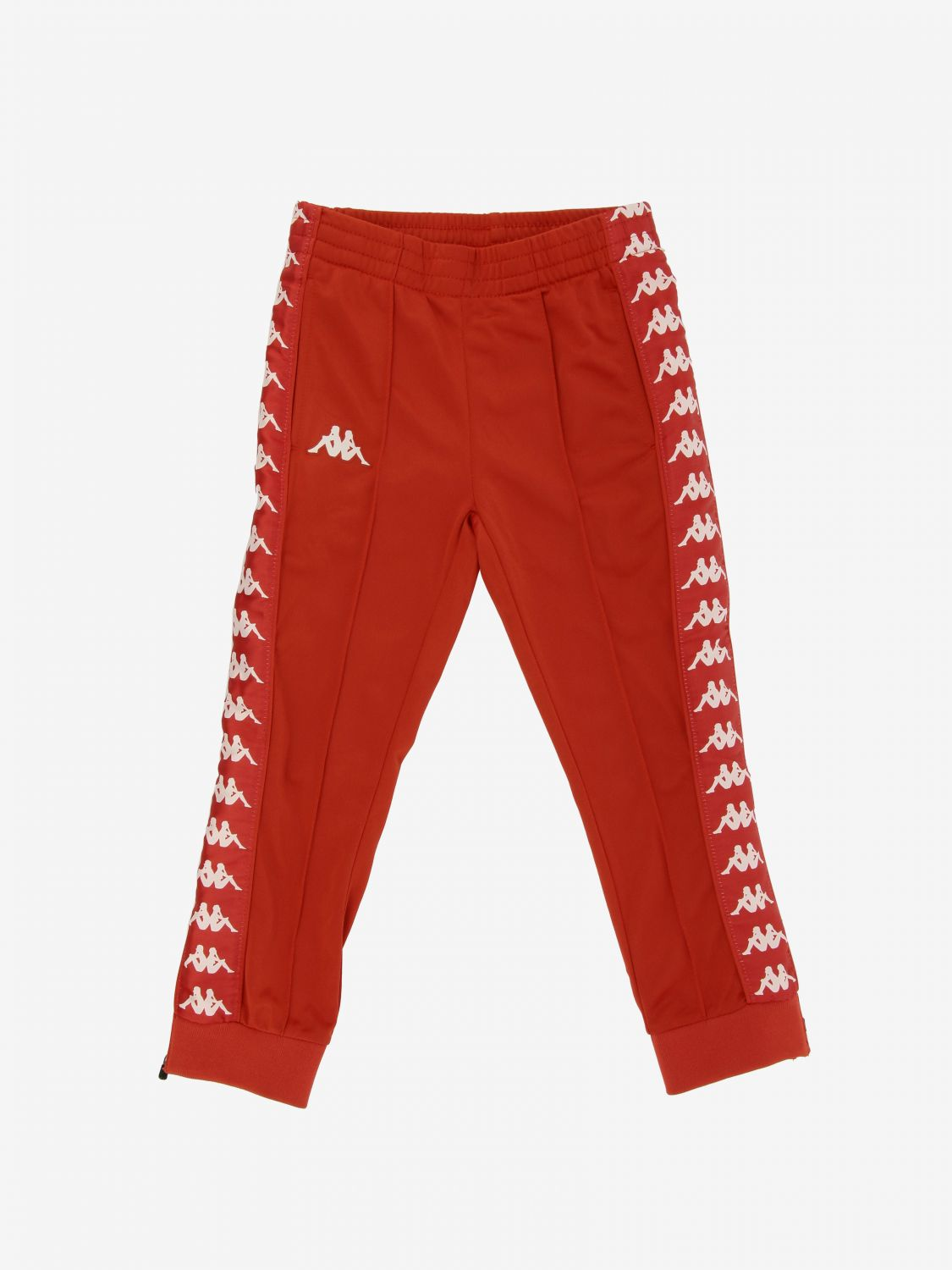Kappa jogging trousers with logo red 1