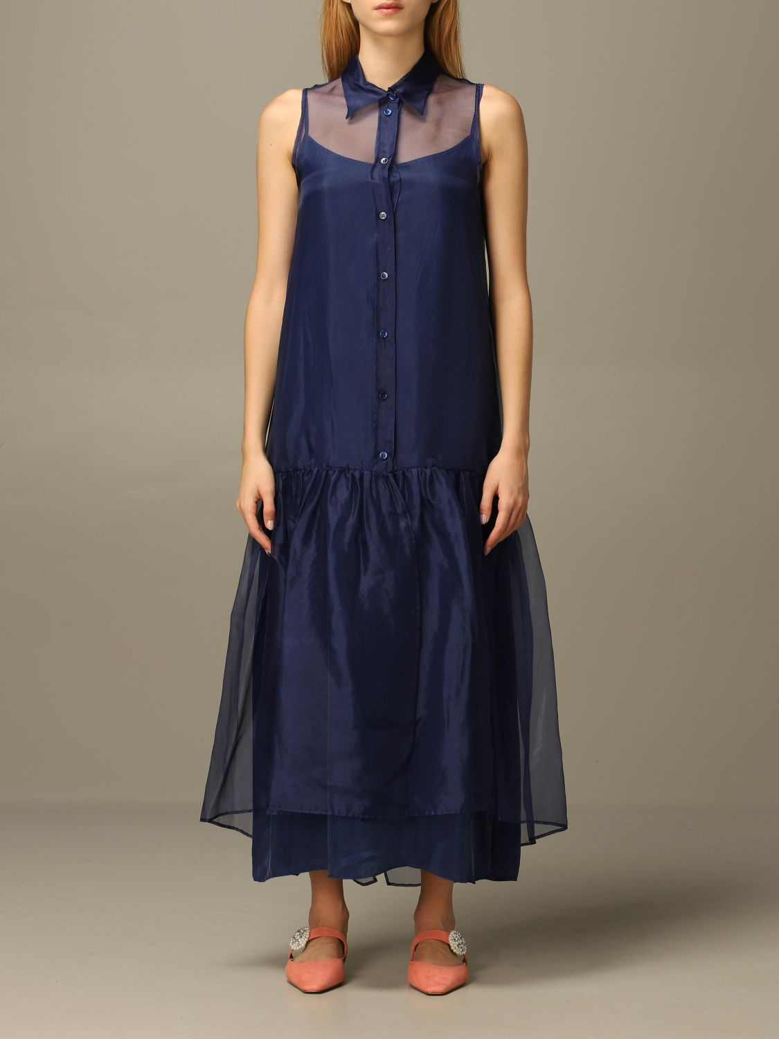 Abito European Culture: Abito European Culture lungo in tulle blue 1