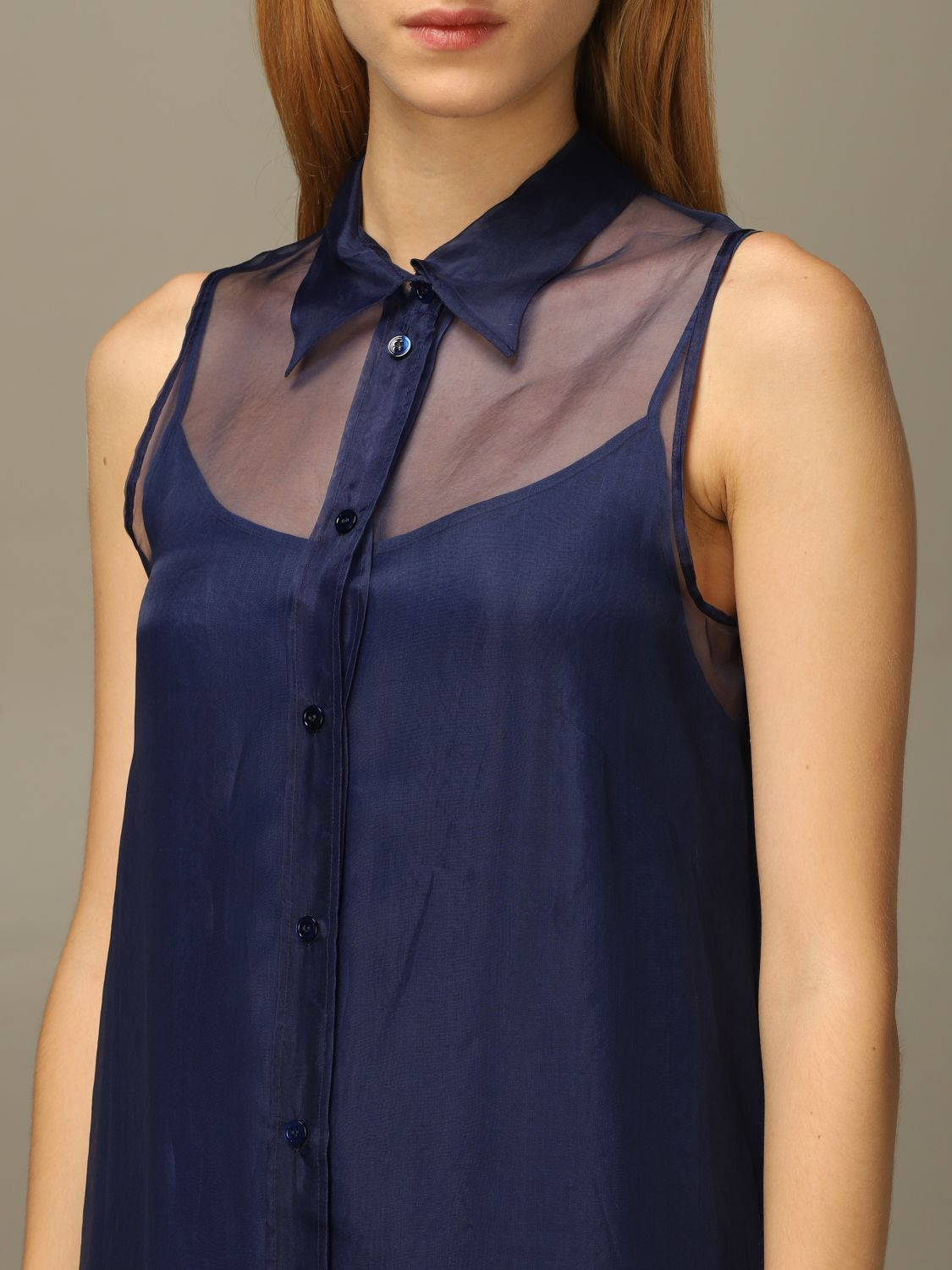 Abito European Culture: Abito European Culture lungo in tulle blue 3