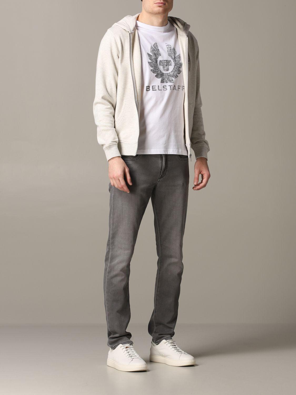 Sweatshirt homme Belstaff gris 2