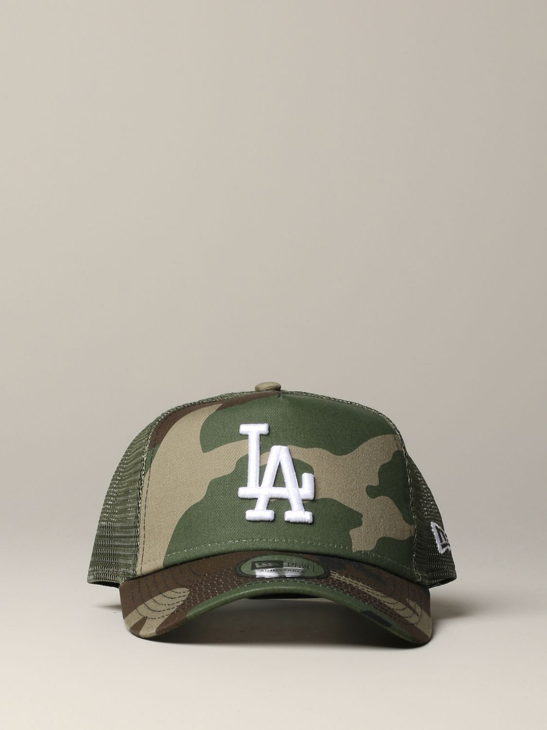 New Era Trucker Cap mit LA Los Angels Logo und Camu Print military 2