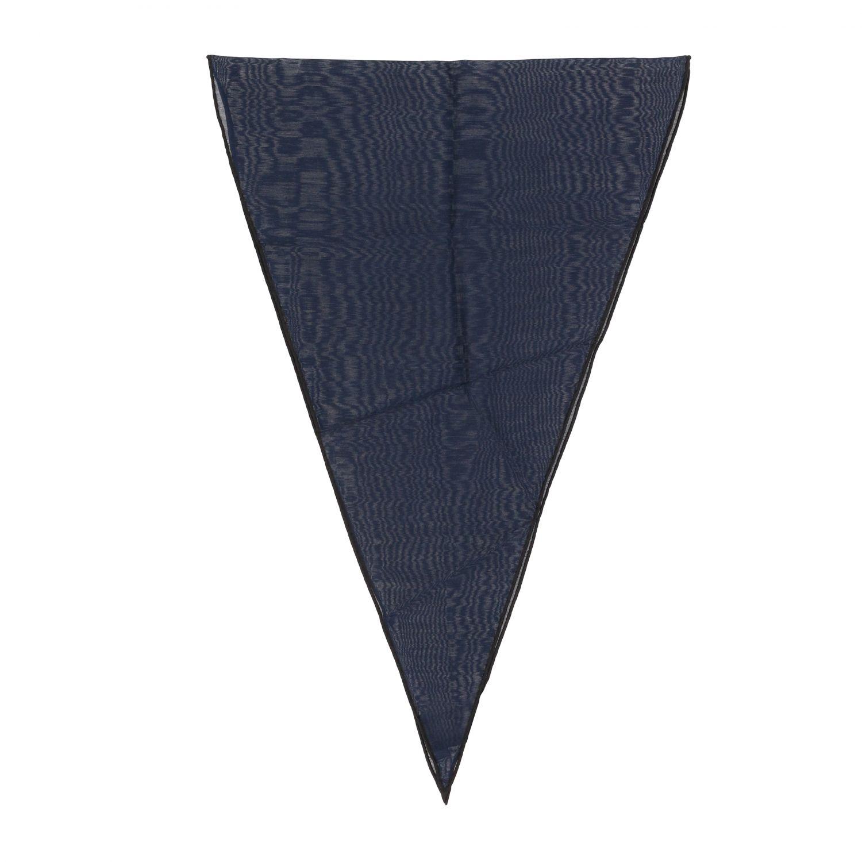 Ermenegildo Zegna Seiden Foulard blau 1