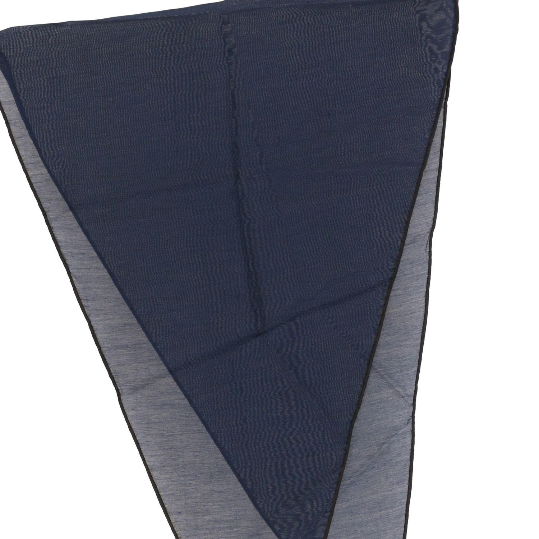 Ermenegildo Zegna Seiden Foulard blau 3