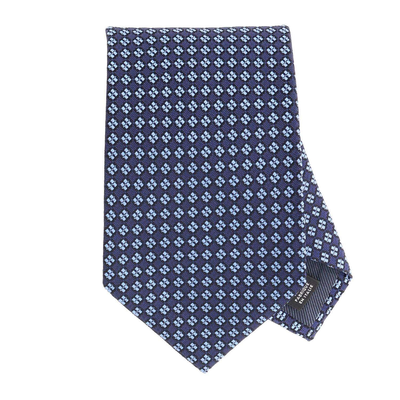 Ermenegildo Zegna Seiden Krawatte blau 1