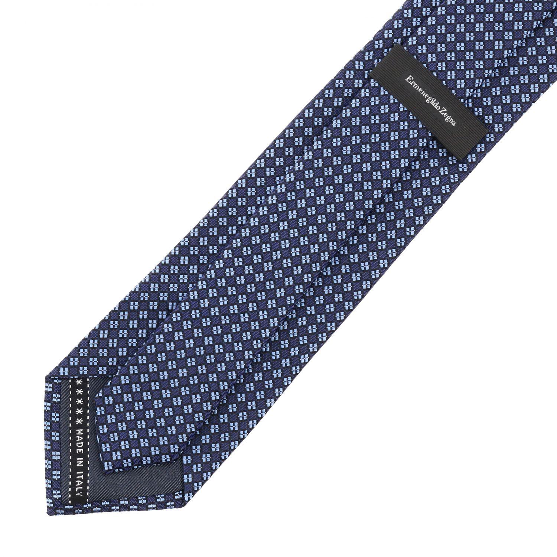 Ermenegildo Zegna Seiden Krawatte blau 2