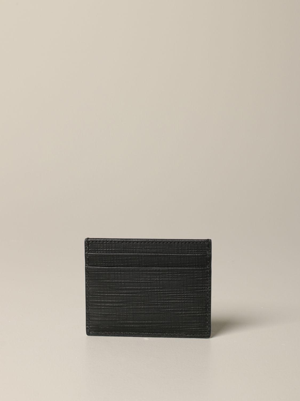 Ermenegildo Zegna Leder Kreditkartenhalter schwarz 2