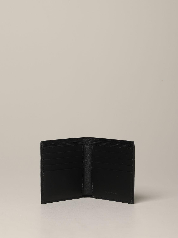 Ermenegildo Zegna Geldbörse aus strukturiertem Leder mit Logo schwarz 2