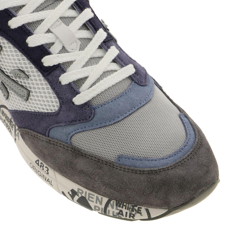 Sneakers Zac zac Premiata in camoscio e rete bicolor con logo blue 4