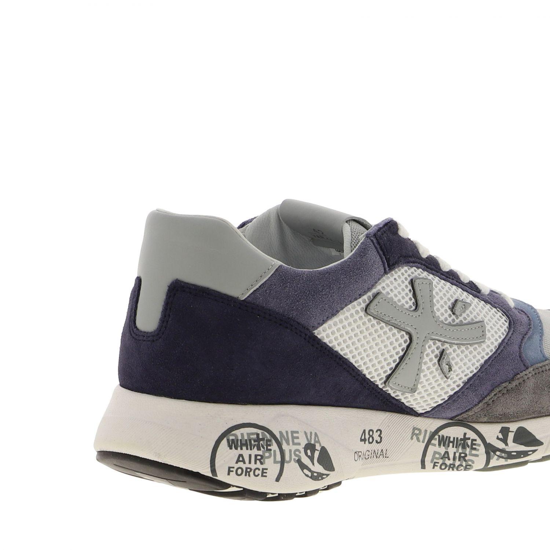 Sneakers Zac zac Premiata in camoscio e rete bicolor con logo blue 5