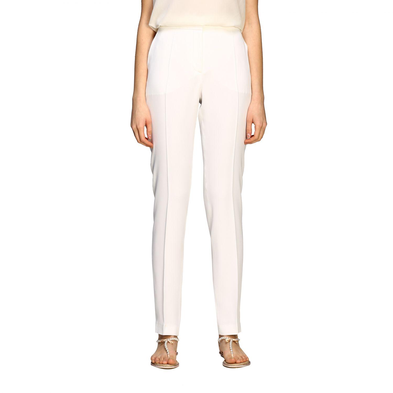 Pants Alberta Ferretti: Alberta Ferretti satin trousers with america pockets white 1