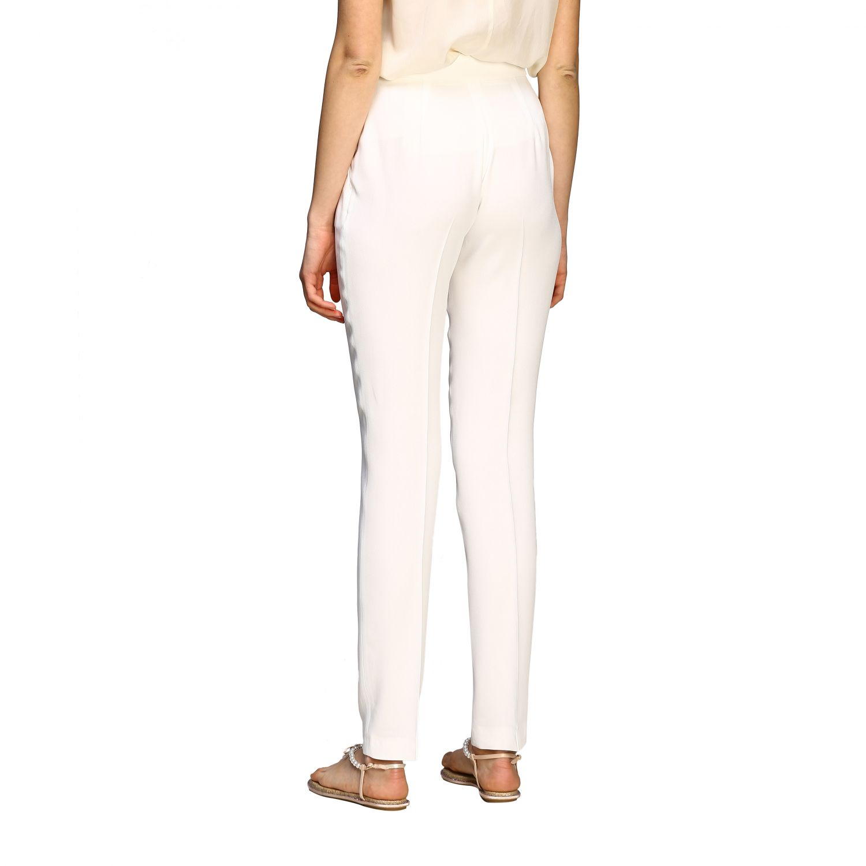 Pants Alberta Ferretti: Alberta Ferretti satin trousers with america pockets white 3