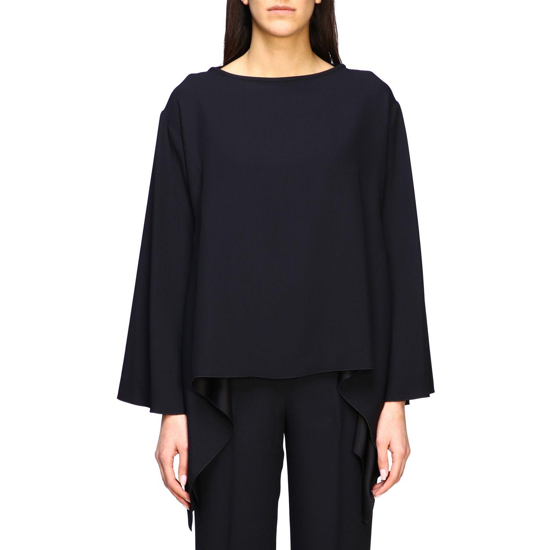 Рубашка Alberta Ferretti: Блузка с длинным рукавом Женское Alberta Ferretti черный 1