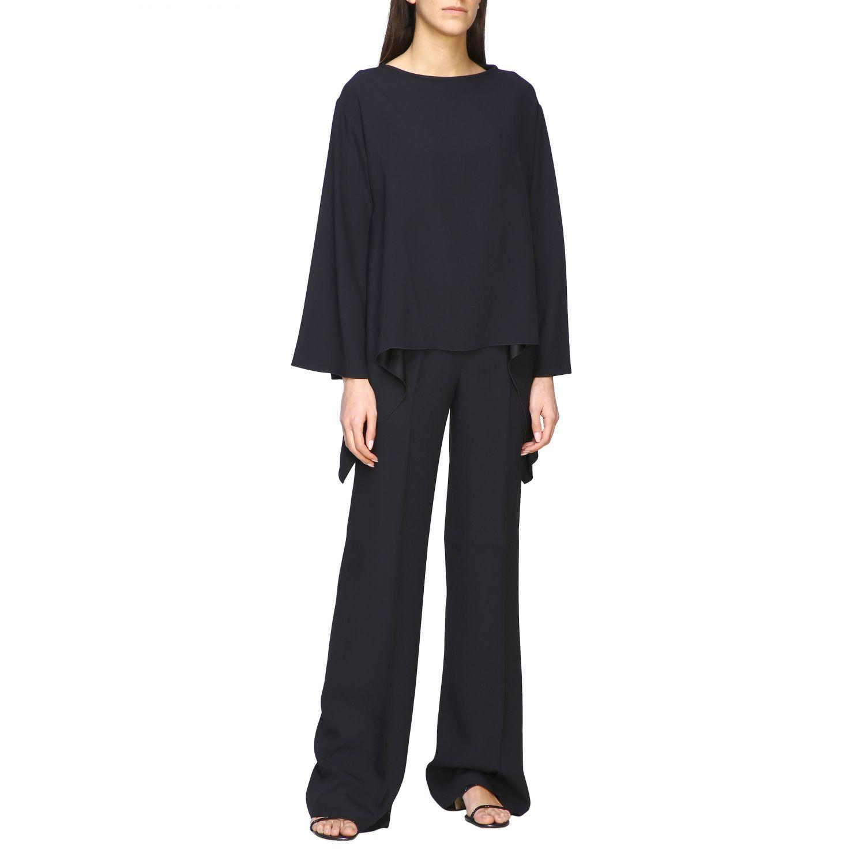 Рубашка Alberta Ferretti: Блузка с длинным рукавом Женское Alberta Ferretti черный 2