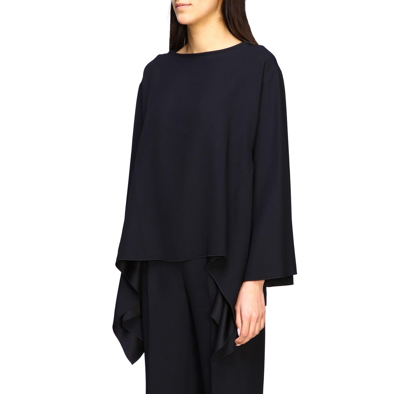 Рубашка Alberta Ferretti: Блузка с длинным рукавом Женское Alberta Ferretti черный 4