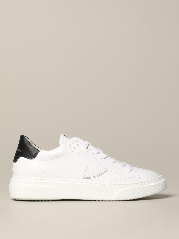 Philippe Model Temple Leder Sneakers weiß 1