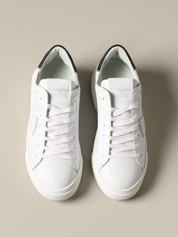 Philippe Model Temple Leder Sneakers weiß 3