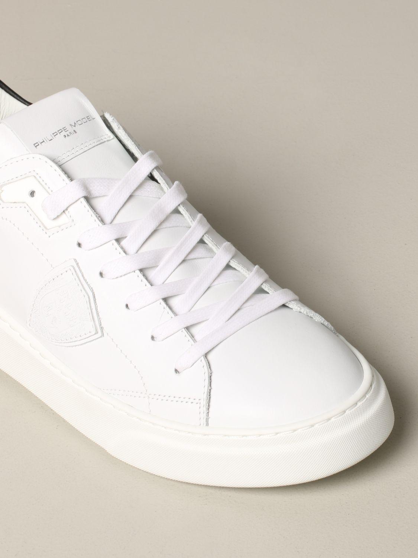 Philippe Model Temple Leder Sneakers weiß 4