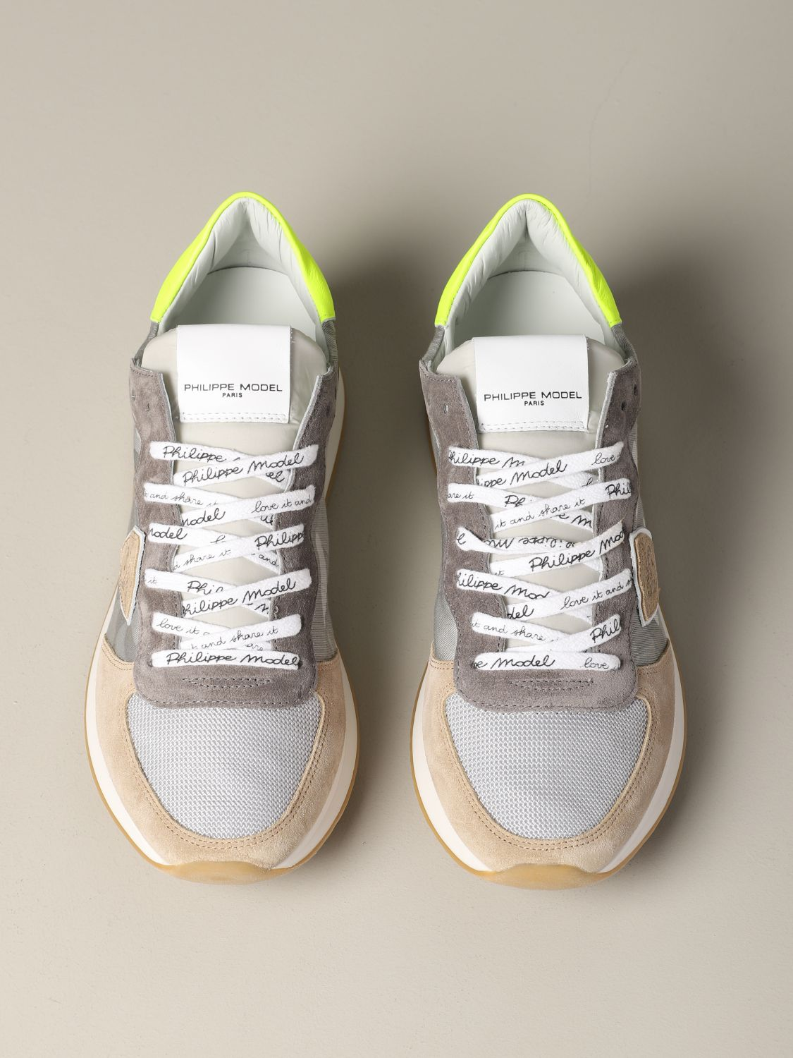 Shoes men Philippe Model grey 3